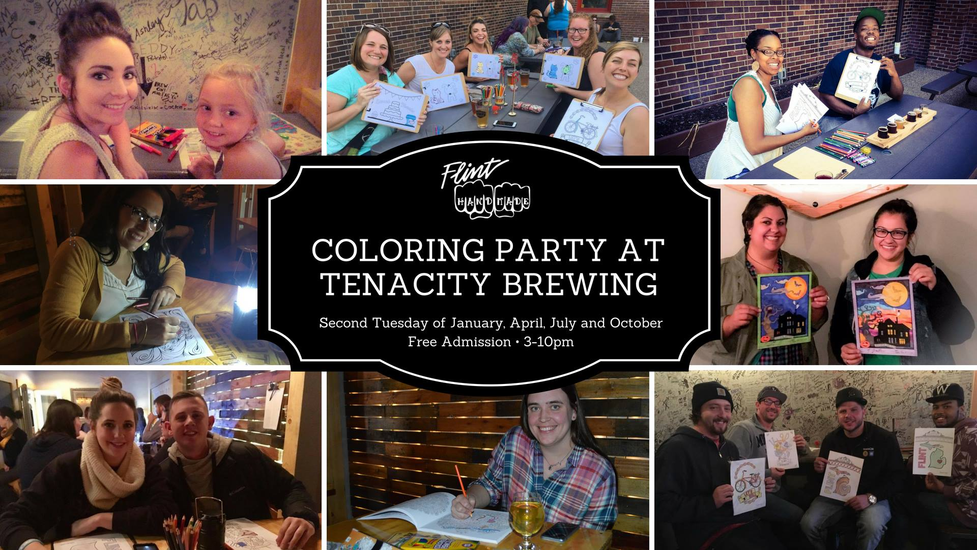 Coloring Party at Tenacity Brewing | Self-care themed